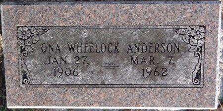 WHEELOCK ANDERSON, ONA - Tulsa County, Oklahoma | ONA WHEELOCK ANDERSON - Oklahoma Gravestone Photos