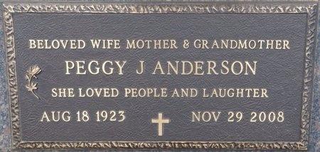 ANDERSON, PEGGY JEAN - Tulsa County, Oklahoma   PEGGY JEAN ANDERSON - Oklahoma Gravestone Photos