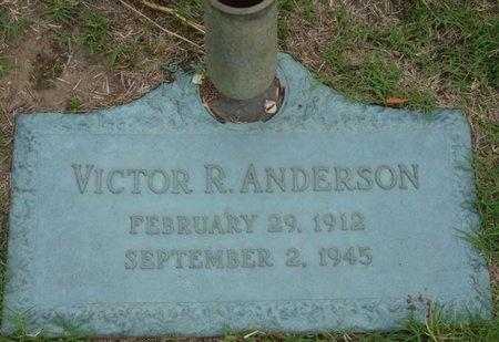 ANDERSON, VICTOR R - Tulsa County, Oklahoma | VICTOR R ANDERSON - Oklahoma Gravestone Photos