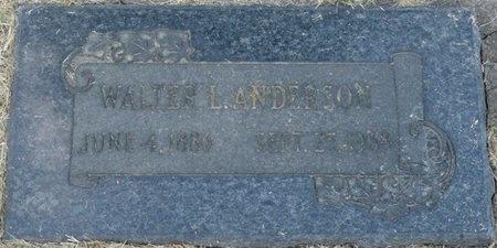 ANDERSON, WALTER L - Tulsa County, Oklahoma | WALTER L ANDERSON - Oklahoma Gravestone Photos