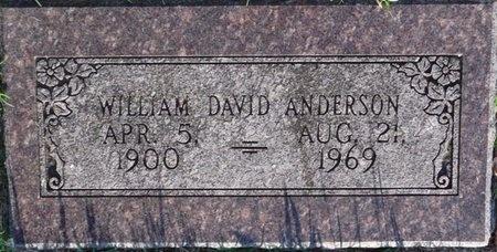 ANDERSON, WILLIAM DAVID - Tulsa County, Oklahoma | WILLIAM DAVID ANDERSON - Oklahoma Gravestone Photos