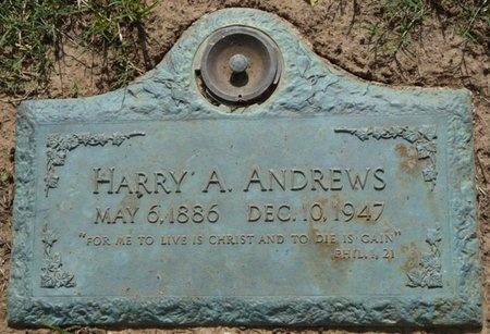 ANDREWS, HARRY A - Tulsa County, Oklahoma   HARRY A ANDREWS - Oklahoma Gravestone Photos