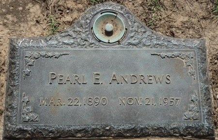 ANDREWS, PEARL E - Tulsa County, Oklahoma | PEARL E ANDREWS - Oklahoma Gravestone Photos