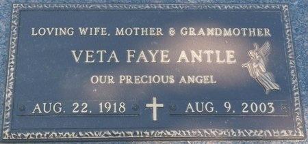 ANTLE, VETA FAYE - Tulsa County, Oklahoma | VETA FAYE ANTLE - Oklahoma Gravestone Photos