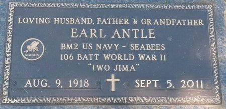 ANTLE (VETERAN WWII), EARL (NEW) - Tulsa County, Oklahoma | EARL (NEW) ANTLE (VETERAN WWII) - Oklahoma Gravestone Photos