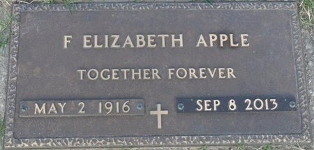 APPLE, FRANCES ELIZABETH - Tulsa County, Oklahoma | FRANCES ELIZABETH APPLE - Oklahoma Gravestone Photos