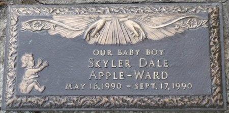 APPLE-WARD, SKYLER DALE - Tulsa County, Oklahoma | SKYLER DALE APPLE-WARD - Oklahoma Gravestone Photos