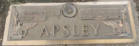 APSLEY, DONALD R - Tulsa County, Oklahoma   DONALD R APSLEY - Oklahoma Gravestone Photos