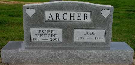 SPURGIN ARCHER, JESSIBEL - Tulsa County, Oklahoma | JESSIBEL SPURGIN ARCHER - Oklahoma Gravestone Photos
