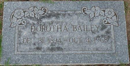 BAILEY, DOROTHA - Tulsa County, Oklahoma   DOROTHA BAILEY - Oklahoma Gravestone Photos