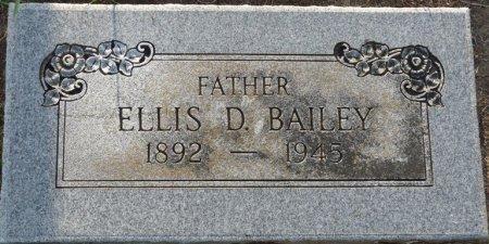 BAILEY, ELLIS D - Tulsa County, Oklahoma | ELLIS D BAILEY - Oklahoma Gravestone Photos