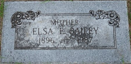 BAILEY, ELSA E - Tulsa County, Oklahoma | ELSA E BAILEY - Oklahoma Gravestone Photos