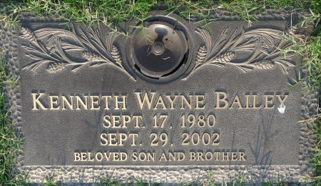 BAILEY, KENNETH WAYNE - Tulsa County, Oklahoma | KENNETH WAYNE BAILEY - Oklahoma Gravestone Photos