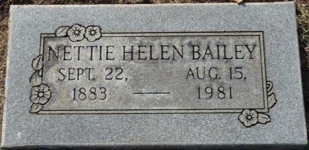 BAILEY, NETTIE HELEN - Tulsa County, Oklahoma | NETTIE HELEN BAILEY - Oklahoma Gravestone Photos