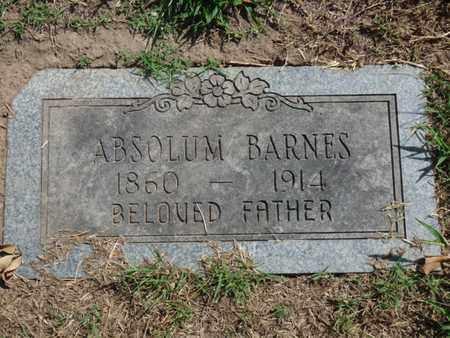 BARNES, ABSOLUM - Tulsa County, Oklahoma | ABSOLUM BARNES - Oklahoma Gravestone Photos