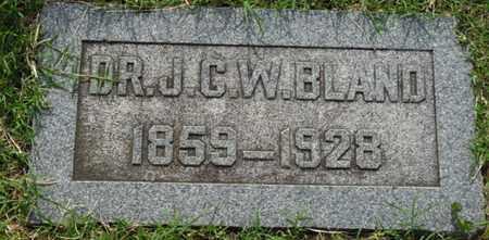 BLAND, J.C.W. - Tulsa County, Oklahoma | J.C.W. BLAND - Oklahoma Gravestone Photos