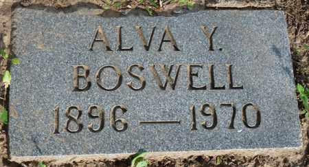 BOSWELL, ALVA Y - Tulsa County, Oklahoma   ALVA Y BOSWELL - Oklahoma Gravestone Photos