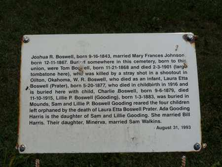 BOSWELL, JOSHUA R - Tulsa County, Oklahoma | JOSHUA R BOSWELL - Oklahoma Gravestone Photos