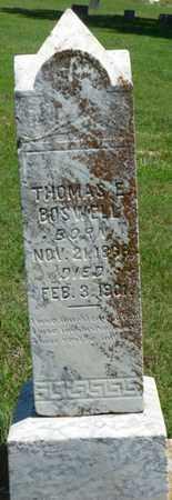 BOSWELL, THOMAS E - Tulsa County, Oklahoma | THOMAS E BOSWELL - Oklahoma Gravestone Photos