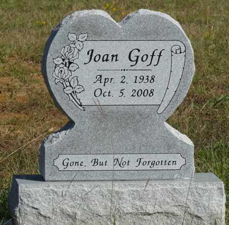 GOFF, JOAN - Tulsa County, Oklahoma | JOAN GOFF - Oklahoma Gravestone Photos