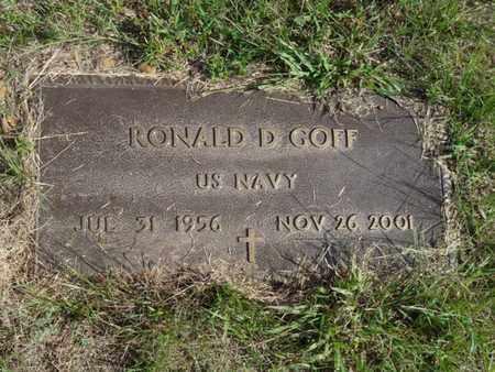 GOFF, RONALD D. - Tulsa County, Oklahoma | RONALD D. GOFF - Oklahoma Gravestone Photos