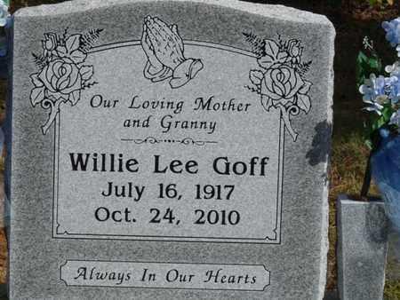 GOFF, WILLIE LEE - Tulsa County, Oklahoma | WILLIE LEE GOFF - Oklahoma Gravestone Photos