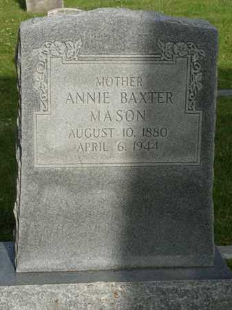 BAXTER MASON, ANNIE - Tulsa County, Oklahoma | ANNIE BAXTER MASON - Oklahoma Gravestone Photos