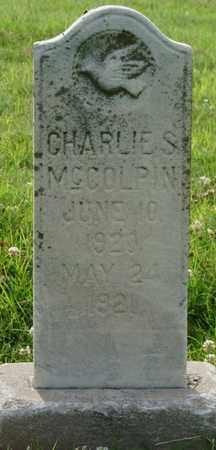 "MCCOLPIN, CHARLES S ""CHARLIE"" - Tulsa County, Oklahoma | CHARLES S ""CHARLIE"" MCCOLPIN - Oklahoma Gravestone Photos"