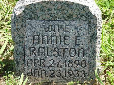 RALSTON, ANNIE E - Tulsa County, Oklahoma   ANNIE E RALSTON - Oklahoma Gravestone Photos