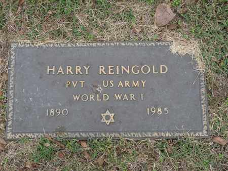 REINGOLD (VETERAN WWI), HARRY - Tulsa County, Oklahoma | HARRY REINGOLD (VETERAN WWI) - Oklahoma Gravestone Photos