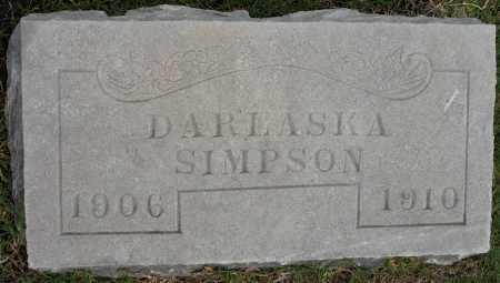 SIMPSON, DARLASKA - Tulsa County, Oklahoma | DARLASKA SIMPSON - Oklahoma Gravestone Photos