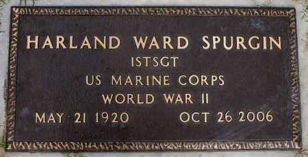 SPURGIN, HARLAND WARD - Tulsa County, Oklahoma | HARLAND WARD SPURGIN - Oklahoma Gravestone Photos
