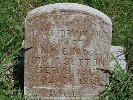 SUTTON, WOODROW W - Tulsa County, Oklahoma | WOODROW W SUTTON - Oklahoma Gravestone Photos