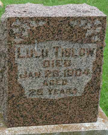 TIBLOW, LULU - Tulsa County, Oklahoma | LULU TIBLOW - Oklahoma Gravestone Photos