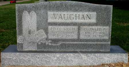 VAUGHAN, EDITH WILLIA - Tulsa County, Oklahoma | EDITH WILLIA VAUGHAN - Oklahoma Gravestone Photos