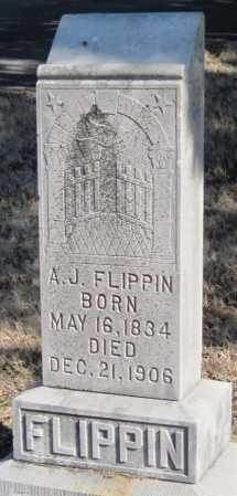 FLIPPIN, A. J. - Wagoner County, Oklahoma   A. J. FLIPPIN - Oklahoma Gravestone Photos