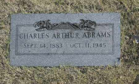 ABRAMS, CHARLES ARTHUR - Washington County, Oklahoma   CHARLES ARTHUR ABRAMS - Oklahoma Gravestone Photos