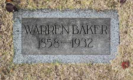 BAKER, WARREN - Washington County, Oklahoma   WARREN BAKER - Oklahoma Gravestone Photos