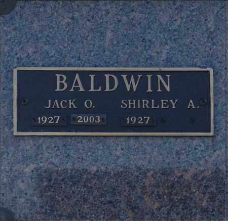 BALDWIN, JACK O - Washington County, Oklahoma | JACK O BALDWIN - Oklahoma Gravestone Photos