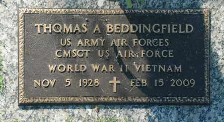 BEDDINGFIELD, THOMAS A. - Washington County, Oklahoma   THOMAS A. BEDDINGFIELD - Oklahoma Gravestone Photos