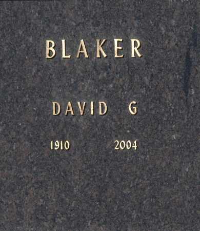 BLAKER, DAVID G. - Washington County, Oklahoma | DAVID G. BLAKER - Oklahoma Gravestone Photos