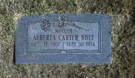 BOLT, ALBERTA CARTER - Washington County, Oklahoma | ALBERTA CARTER BOLT - Oklahoma Gravestone Photos