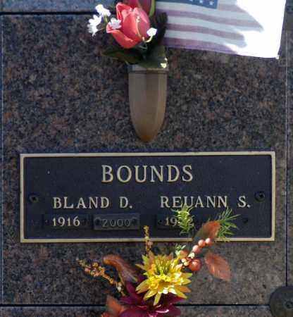 BOUNDS, REUANN S - Washington County, Oklahoma | REUANN S BOUNDS - Oklahoma Gravestone Photos
