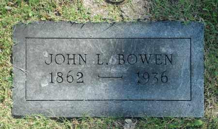 BOWEN, JOHN L. - Washington County, Oklahoma   JOHN L. BOWEN - Oklahoma Gravestone Photos
