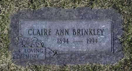 BRINKLEY, CLAIRE ANN - Washington County, Oklahoma | CLAIRE ANN BRINKLEY - Oklahoma Gravestone Photos