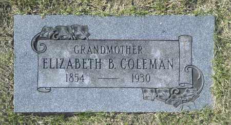 COLEMAN, ELIZABETH B - Washington County, Oklahoma   ELIZABETH B COLEMAN - Oklahoma Gravestone Photos