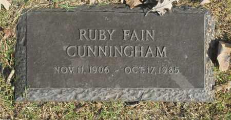 CUNNINGHAM, RUBY FAIN - Washington County, Oklahoma | RUBY FAIN CUNNINGHAM - Oklahoma Gravestone Photos