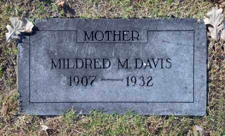 DAVIS, MILDRED M - Washington County, Oklahoma | MILDRED M DAVIS - Oklahoma Gravestone Photos