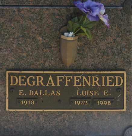 DEGRAFFENRIED, E DALLAS - Washington County, Oklahoma | E DALLAS DEGRAFFENRIED - Oklahoma Gravestone Photos