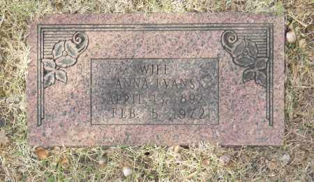 EVANS, ANNA - Washington County, Oklahoma | ANNA EVANS - Oklahoma Gravestone Photos